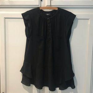 Black peplum blouse